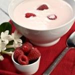 frambuesa con yogur — Foto de Stock