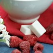 Raspberry with yogurt — Stock Photo #6171544