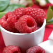 Raspberry with yogurt — Stock Photo #6171606