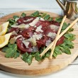 Italian bresaola — Stock Photo