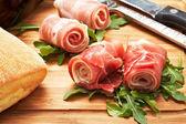 Raw ham — Stock Photo