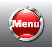 Red menu button vector — Stock Vector