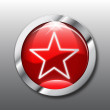 Royalty-Free Stock Vector Image: Red star button vector