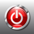 Red power button vector — ストックベクタ