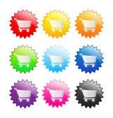Shopping sticker vector — Stock Vector