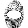 Stock Vector: Fingerprint with chat bubble