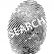 Finger print with search sign — Stock Vector