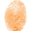 Stock Vector: Orange fingerprint vector