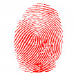 Stock Vector: Red fingerprint vector