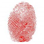 Red fingerprint vector — Stock Vector #6185873
