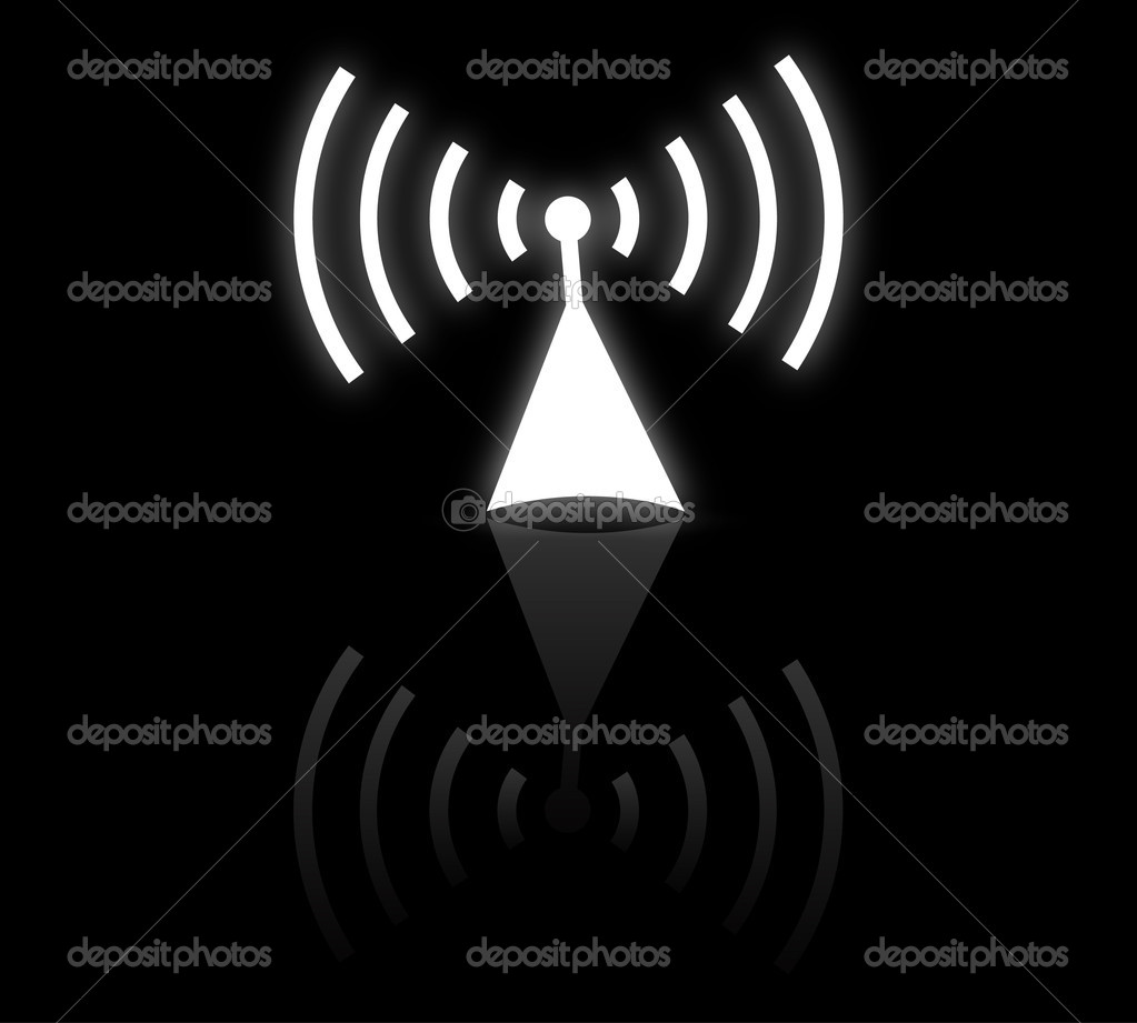 Radio antenna vector — Stock Vector #6185823