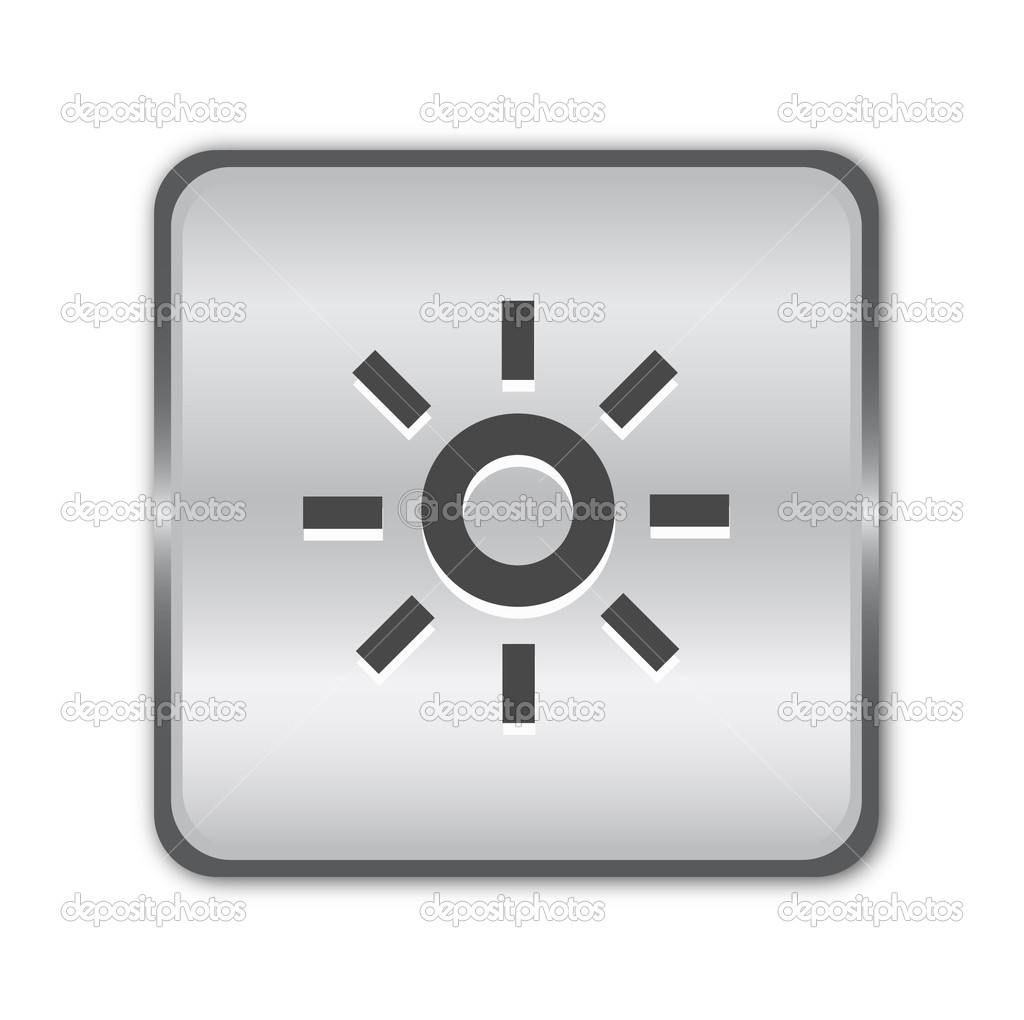 Chrome brightness button vector — Stock Vector #6259124