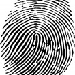 Vector of a finger print — Stockvectorbeeld