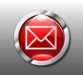Red mail button vector — Stock Photo