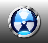 Blue radiation button vector — Stock Photo