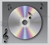 Music CD vector — Stock Photo
