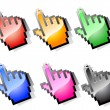 Cursor hands - Stock Photo
