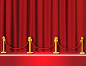 Red carpet vector — Stock Photo