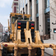 Road construction machinery — Stock Photo