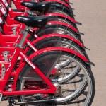 Row of bikes — Stock Photo