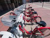 Fila de bicicletas — Foto de Stock