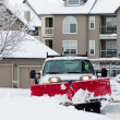 snow removal — Stock Photo