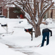 Shovelling sidewalk — Stock Photo #6193712