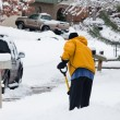 Shovelling sidewalk — Stock Photo #6194938