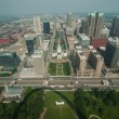 Aerial View Dowmtown Saint Louis — Stock Photo