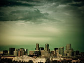 Mile High City of Denver by night — Stock Photo