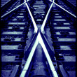 Stock Photo: Railway crossroad