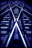 Railway crossroad — Foto Stock