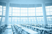 Spacious interior space and glass wall — Stock Photo