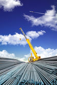 Deformed steel bar and sky — Stock Photo