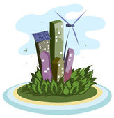 Green energy city — Stock Vector