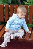 Child on a walk — Stock Photo