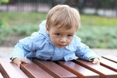Year-old baby for a walk — Stock Photo