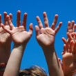 Kids hands - Stock Photo