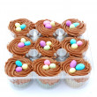 Easter chocolate cupcakes — Stock Photo