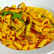 Curry pasta - Stock Photo