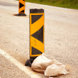 Traffic signs for road block — Stock Photo