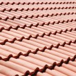 Background red roof tiles — Foto Stock