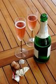 Champagne breakfast — Stock Photo