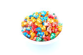 Colorful popcorn — Stock Photo