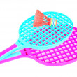 Badminton rackets — 图库照片