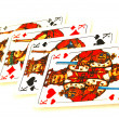 Stock Photo: Four kings poker cards