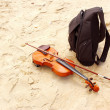 Baggage of musician — Stock Photo