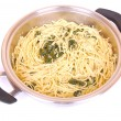 Stock Photo: Spaghetti with Spinach