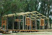 Casa di legno in edilizia — Foto Stock