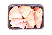 Raw chicken pieces — Stock Photo